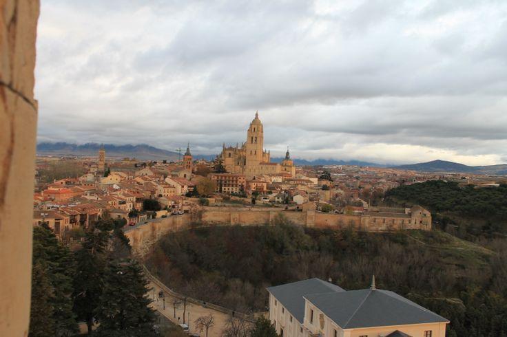 Vista de Segovia desde lo alto de la torre del Alcázar