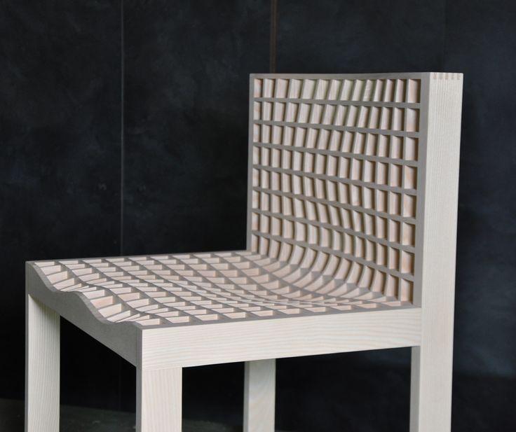 """GRID"" chair made in cooperation with Boris Berlin. #ash #woodwork #handmade #furniture  http://www.kjeldtoft.com/"