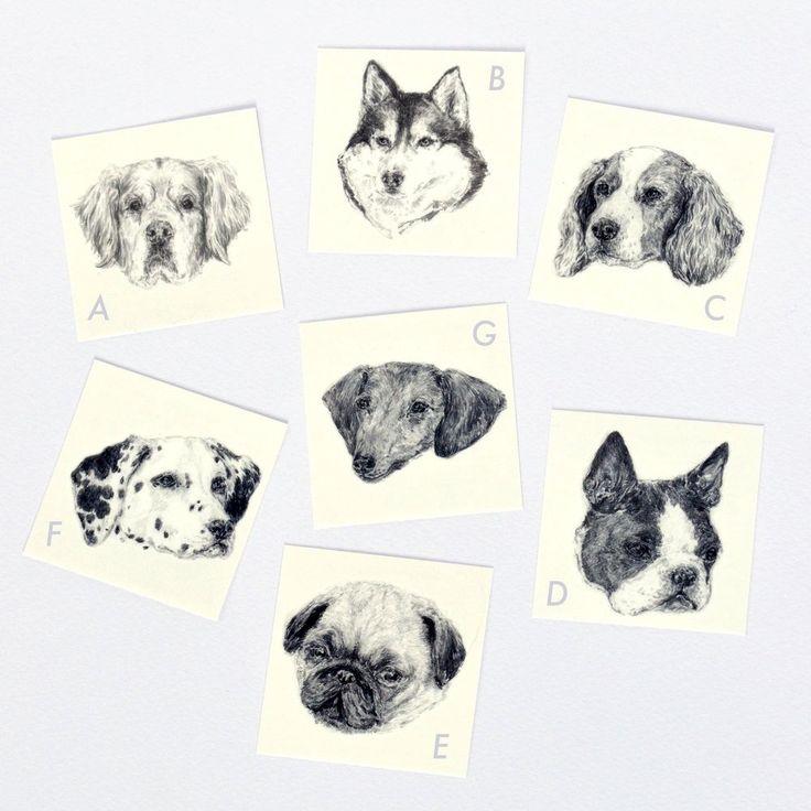 Tatouage temporaire // chien - Hariet et Rosie