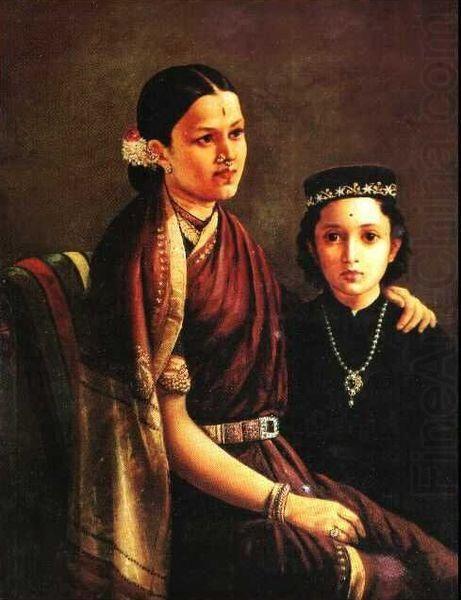 A beautiful silk sari as seen in a painting by Raja Ravi Verma