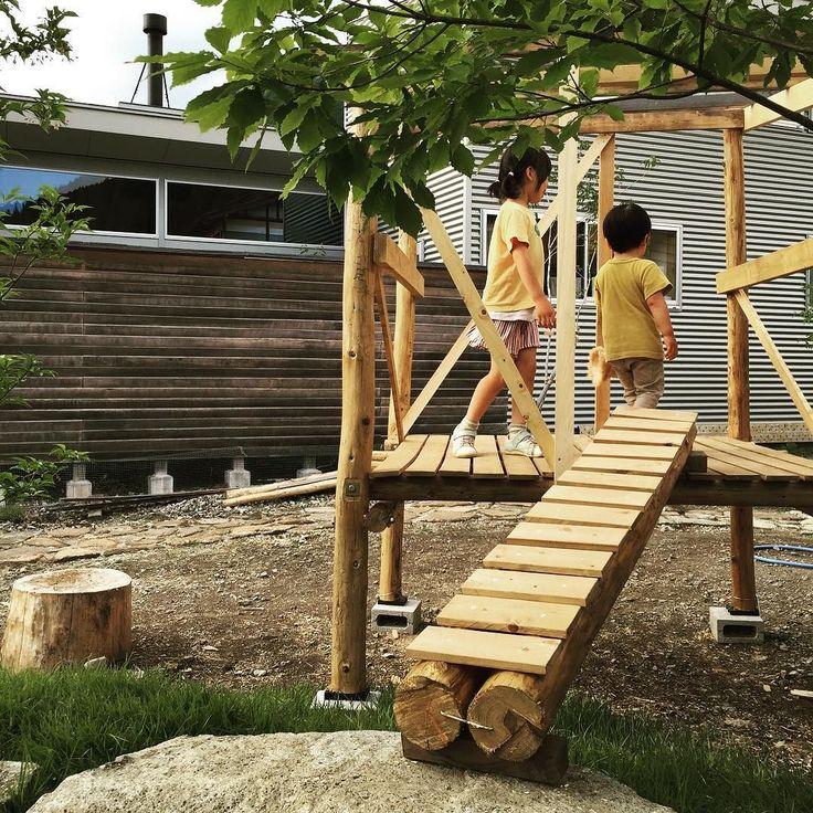 別荘につながる橋が完成#庭 #小屋 #田舎暮らし #diy