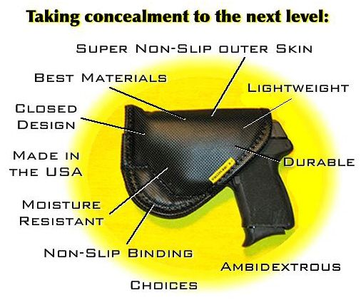 "Remora ""No-Clip"" IWB Holster. One pinner wrote ""I was a little sceptical at first, but I love this holster. It's comfortable, very diverse, and only 30 dollars."
