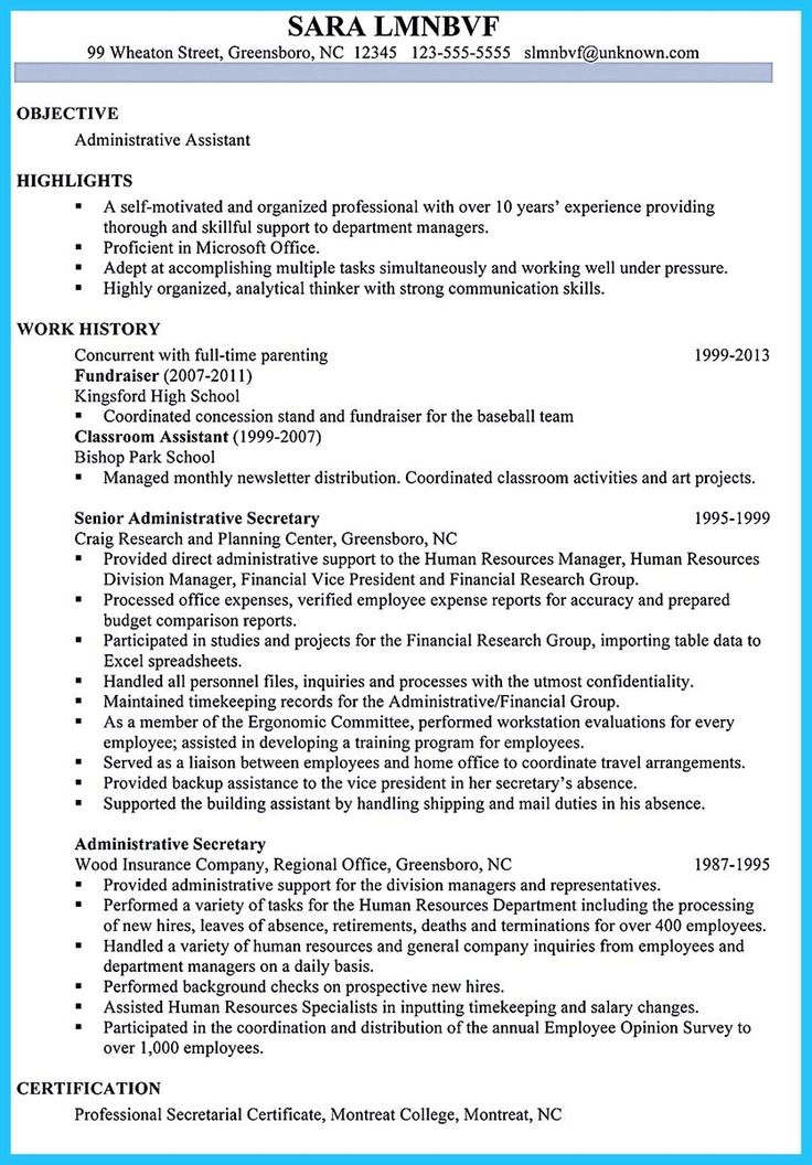 Best administrative assistant resume sample to get job