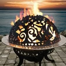 Copper Fire Pits - scrolled