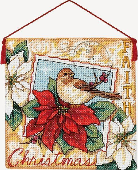 "Faith Ornament - Cross Stitch Kit $4.45 at 123Stitch.com. Kit contains pre-sorted cotton thread, 18 count ivory cotton Aida, felt, needle, and instructions. Also needed but not included: thick craft glue and quilt batting. Finished size: 4 1/2"" x 4 1/2""."