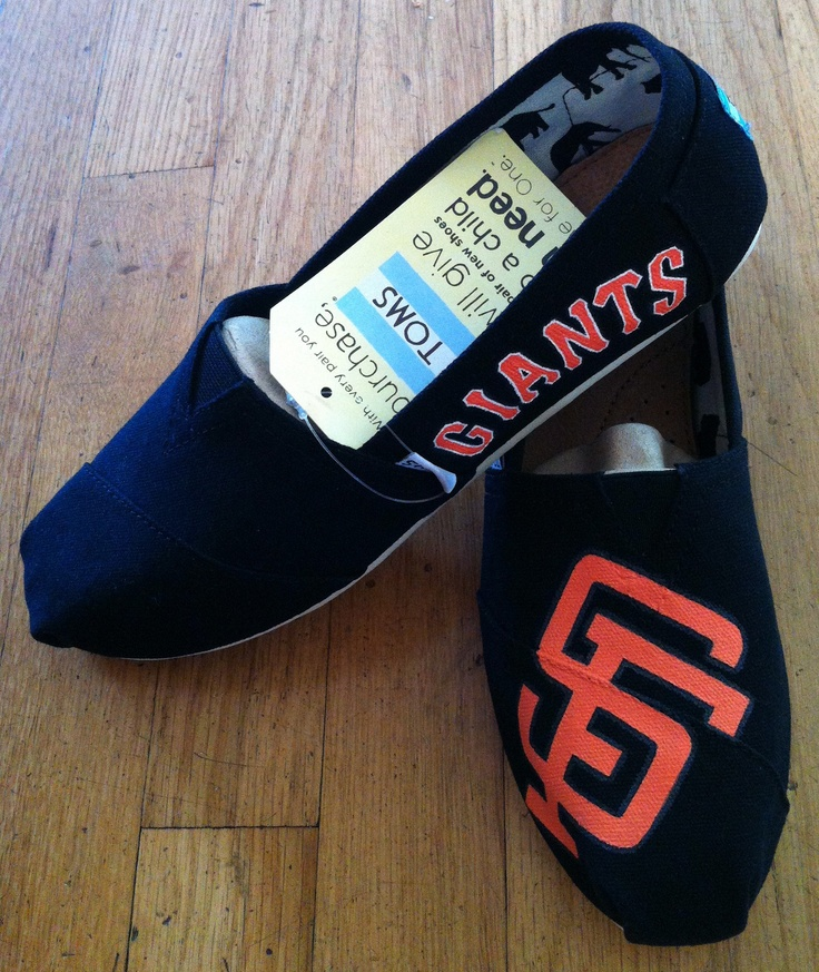 hand-painted san francisco giants toms by elizabeth peterson