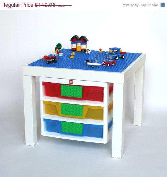 1000 images about lego tables on pinterest ikea storage for Ikea lack lego table