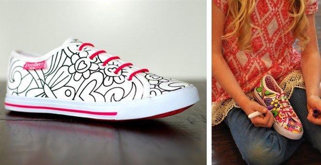 Doodle My Shoes, what a cute idea!!