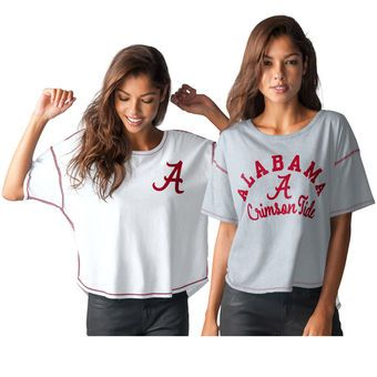 Touch by Alyssa Milano Alabama Crimson Tide Women's Heathered Gray Reversible T-Shirt #rolltide #alabama #crimsontide