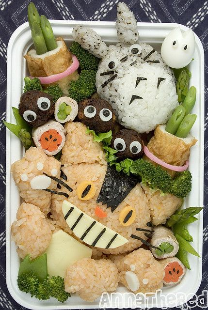 日本人のごはん/お弁当 Japanese meals/Bento トトロ弁当 Totoro