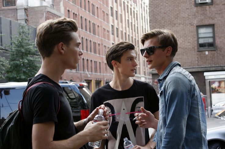 Lennart Richter, Charlie Timms, and Janis Ancens after Tommy Hilfiger
