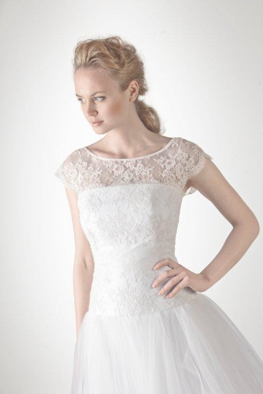 Bridal dress INA with lace top by SADONI - Collection 2013
