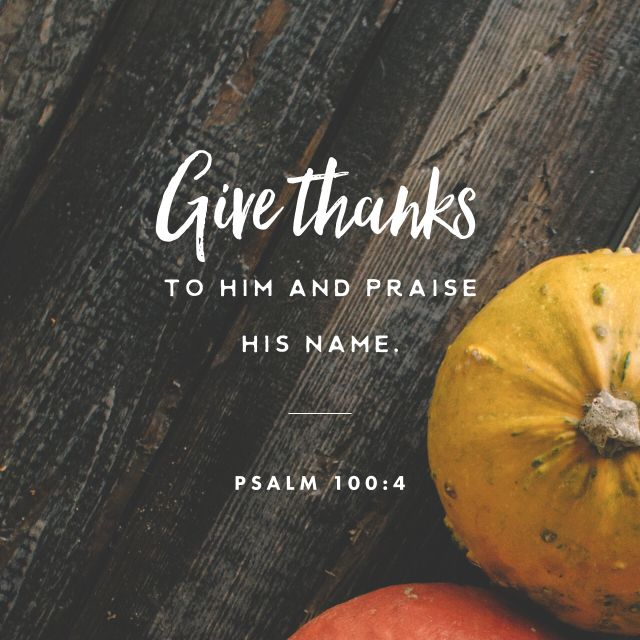 Verse of the day - Thanksgiving Day, November 24, 2016.