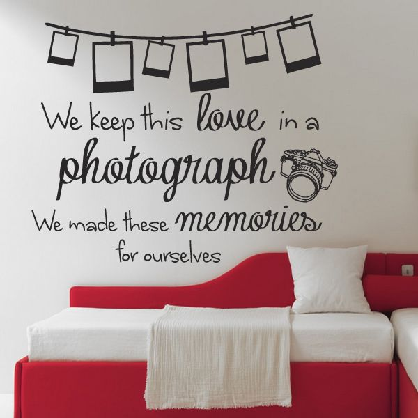 Ed Sheeran Photograph Lyrics Quote Wall Art Sticker Wall Decals Home DIY  Decoration Wall Mural Removable Bedroom Wall Stickers
