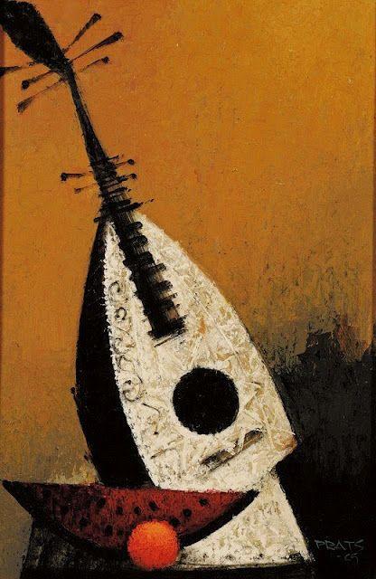 Ramon Prats, Still Life with Mandolin, 1969