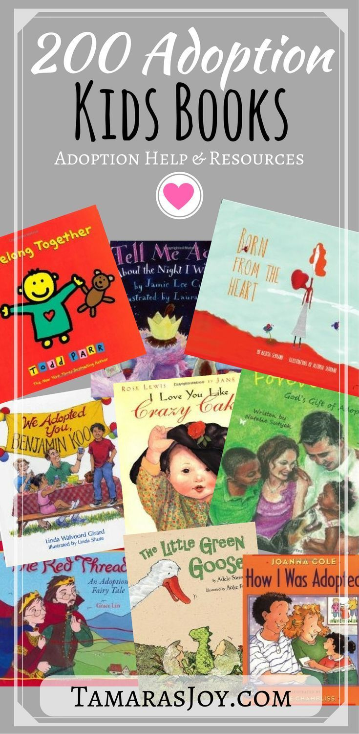 Over 230 adoption books for children to choose from!