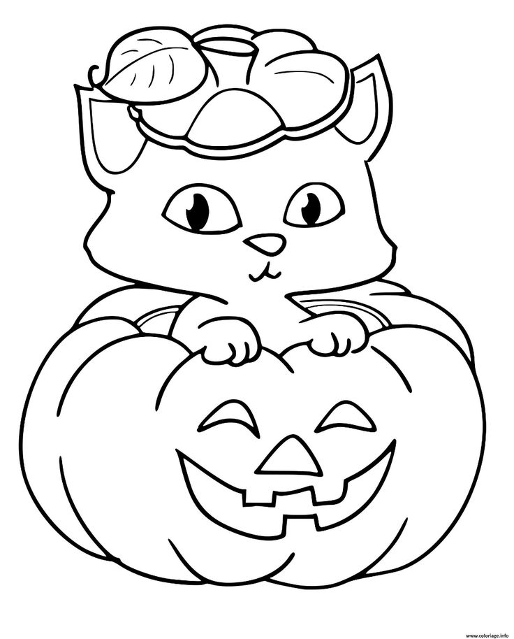 Halloween. Cute coloring sheet! Free halloween coloring