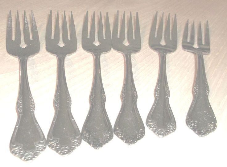 """Mansfield Salad Forks 6 1/4"""" Oneida Stainless Steel Flatware   #Oneida #Oneida"""