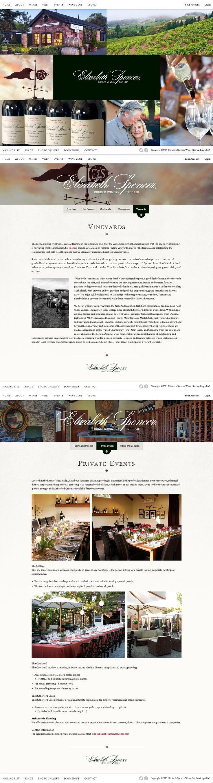 Elizabeth Spencer Wines   Website   by designthis!