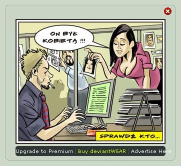 Comic style ad