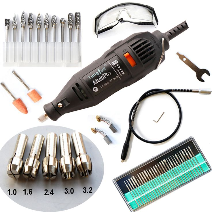 DREMEL MultiPro Drill + Carving Pen Soft Shaft Accessories,Tungsten steel Grinding Top-level Kits Goggles 30pcs grinding needles
