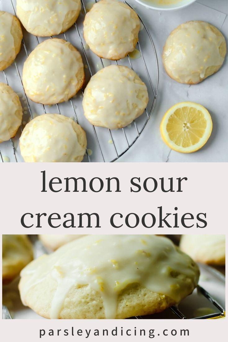 Lemon Sour Cream Cookies In 2020 Sour Cream Cookies Lemon Recipes Recipes
