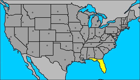 Mapa de La Florida (Estados Unidos)