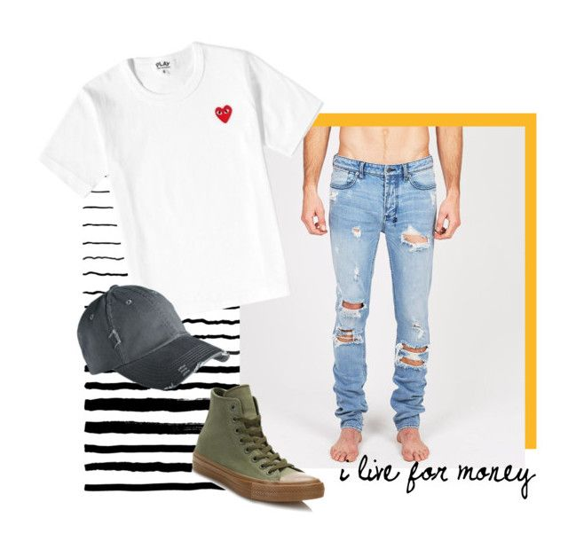 """""""i'm back"""" by holaallyy on Polyvore featuring Converse, men's fashion and menswear"""