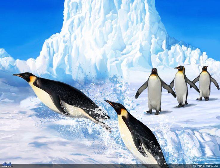 Прыгучие пингвины — Компьютерная графика и анимация — Render.ru