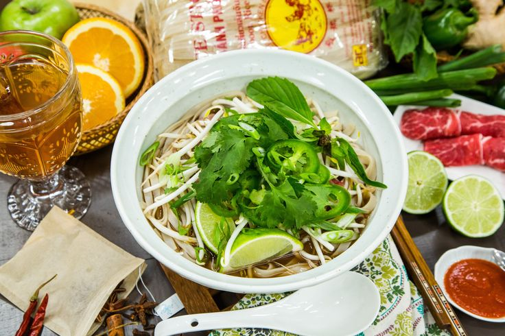 The classic Vietnamese dish, #Pho prepared by Chef Jet Tila! For more tasty recipes tune in to Home & Family weekdays at 10a/9c on Hallmark Channel!