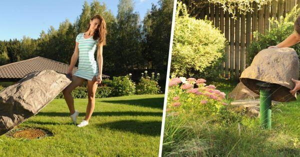 Imitation Of Large Boulder For Garden Design And Landscape Decoration Idea Steckdose Garten Gartensteine Steine