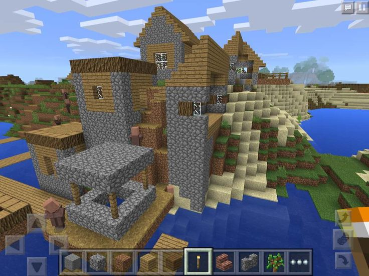 Minecraft PE Seed: Four Villages at Spawn - Multiple Blacksmiths - vrc - Infinite Seed :)