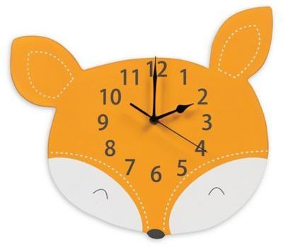 Perfect for a rustic adventure room! Love the forest animals! Trend Lab® Forest Tales Fox Wall Clock in Orange  #modern #forest #animal #fox #clock #nursery #baby #kid #boy #girl #walldecor #shopping #style #afflink