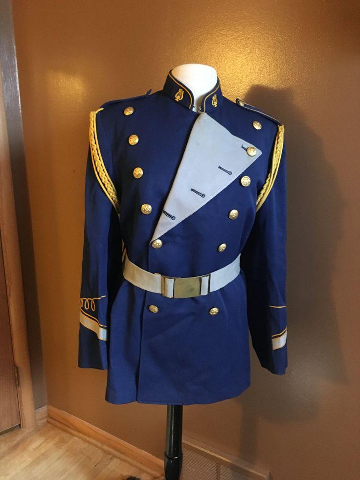 Vintage Marching Band Uniform Nautical Jacket made by Craddock Uniform Costume by SheBangArt on Etsy