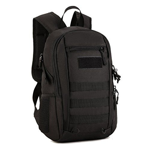 Hunting- SUNVP 12L Mini Daypack Military MOLLE Backpack Rucksack Gear Tactical Assault Pack Student School Bag for Hunting Camping Trekking Travel * Click image for more details.