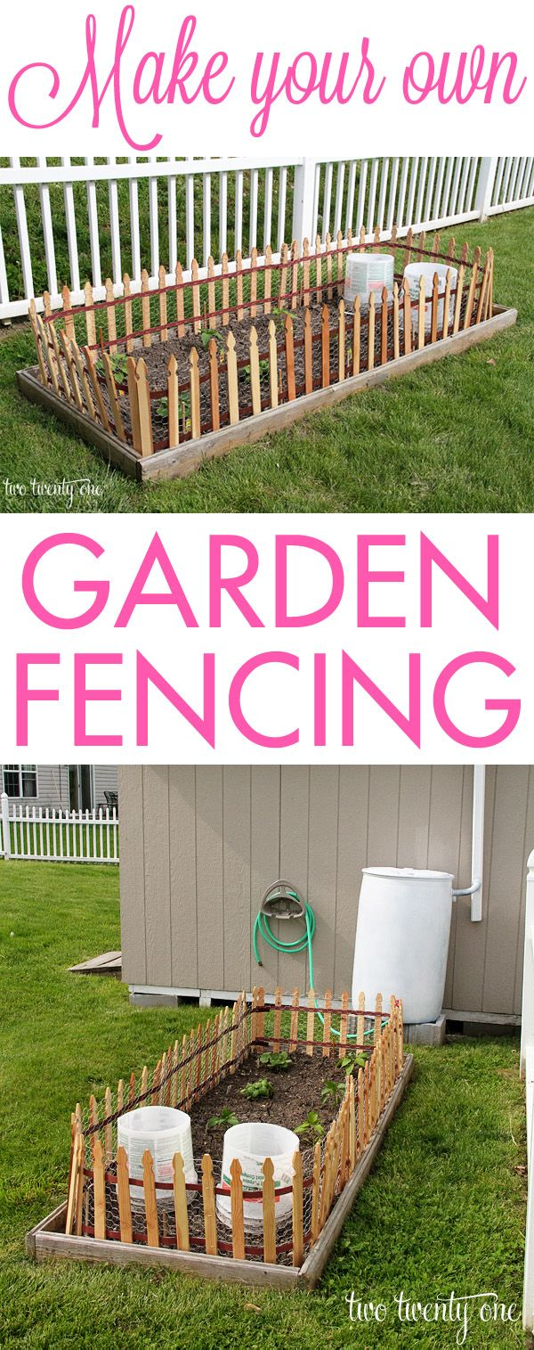 Make your own garden fencing!