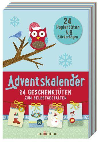 Adventskalender: 24 Geschenktüten zum Selbstgestalten Toll :-D
