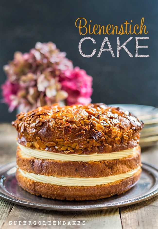 Bienenstich: Bee Sting Cake - Baking Along to the Great British Bake Off | Supergolden Bakes