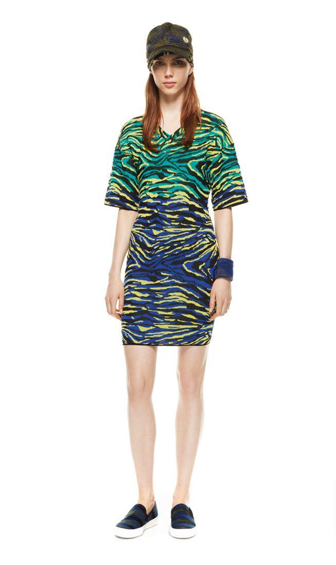 #MMissoni | Zebra Striped Knit Dress | Spring 2014 Collection