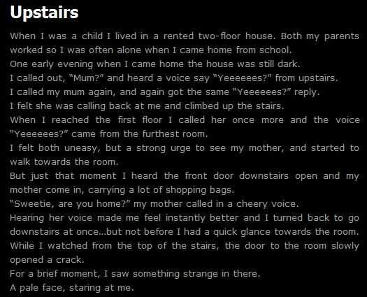 The realization of what could have happened made this one so creepy. -LHxXx