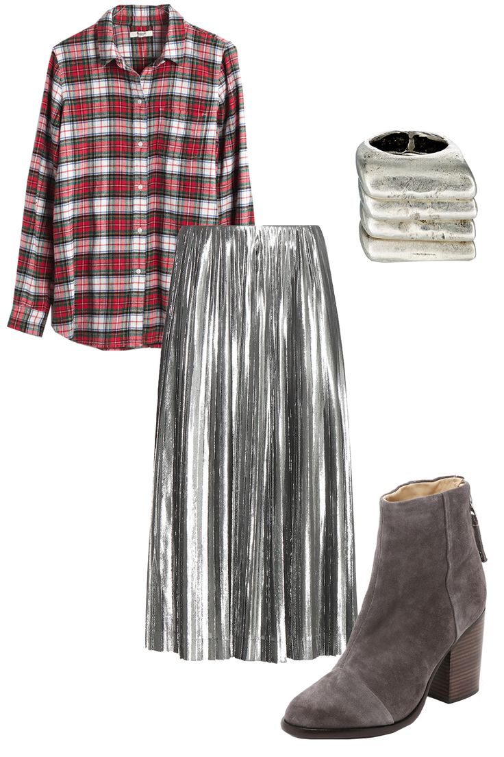 5 Clever Ways to Wear the Metallic Pleated Midi Skirt