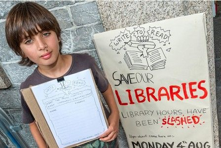 Ten year old Leon leads fight against library cuts in Cornwall