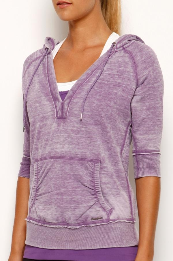 Lilly 3/4 Slv Hooded Top - cute transeasonal piece