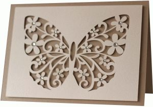 Silhouette Design Store - View Design #76190: 5x7 butterfly flourish card