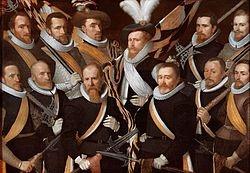 Officieren en vaandeldragers van de Jonge Schutterij (1611), Stedelijk Museum Alkmaar