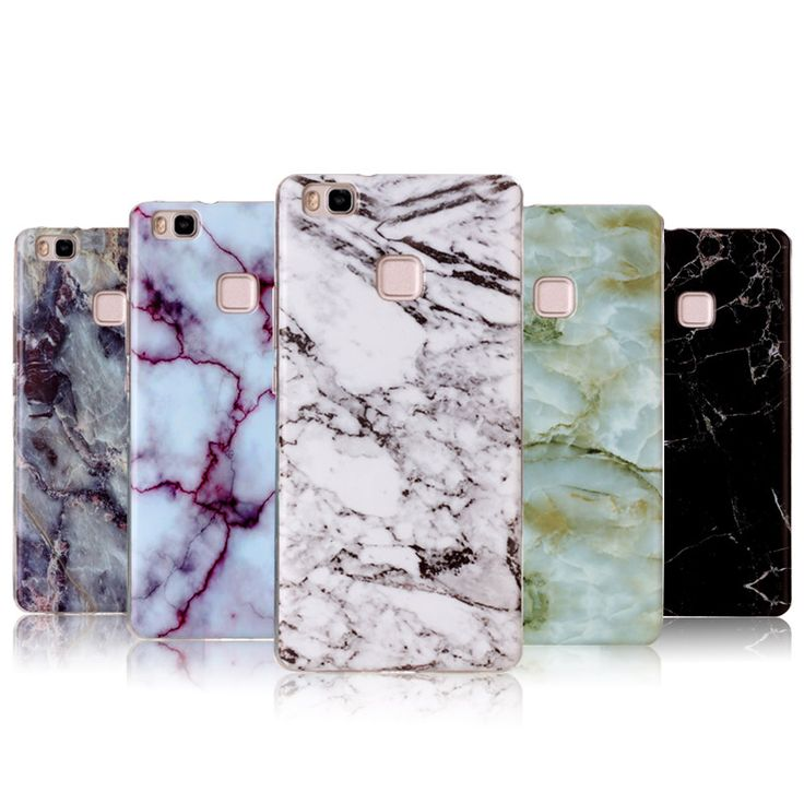 Soft TPU For Coque Huawei P9 Lite Case Silicon 5.2 Inch Luxury Marble Painted For Fundas Huawei P9 Lite Phone Cases#silicone case huawei p9 lite