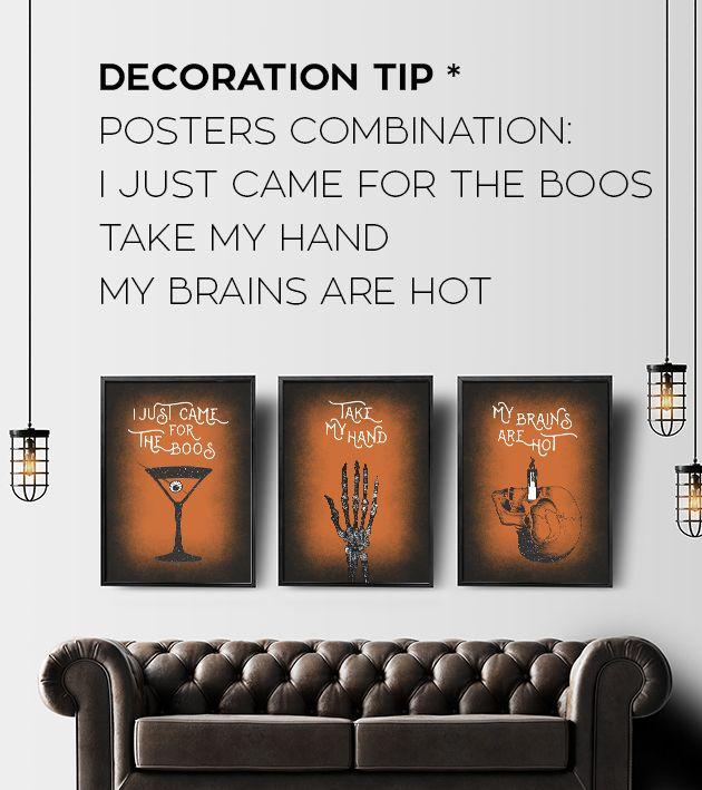 Halloween printables - Halloween posters that will make your decorations  as creepy as ever. Human anatomy art, halloween cocktails and skull art.   Gothic art with best quotes. For personal use only, by InogitnaDesigns