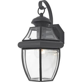 portfolio brayden 1413in h mystic black outdoor wall light louisville decorative lighting adds mystique o