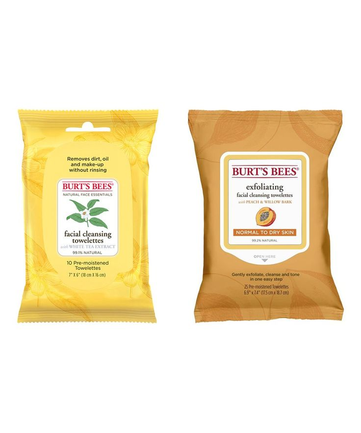 Take a look at this Burt's Bees 10-Ct. White Tea Cleansing & 25-Ct. Peach Exfoliating Towelettes today!