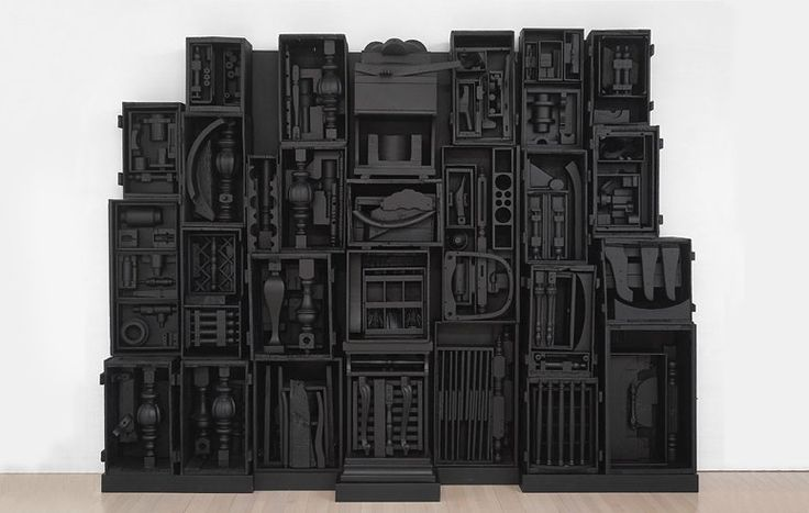 louise nevelson sky cathedral Louise nevelson (september 23, 1899 – april 17, 1988) was an american  sky  cathedral 1958 found and manufactured wood objects painted black 115 x 135.
